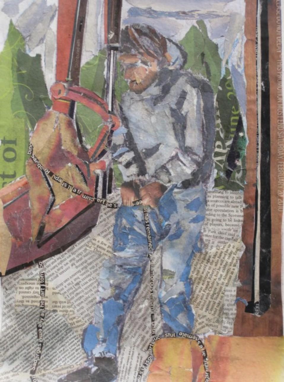 Man At Work Collage
