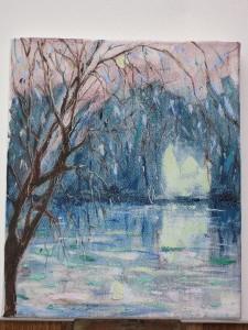 Twilight acrylic painting