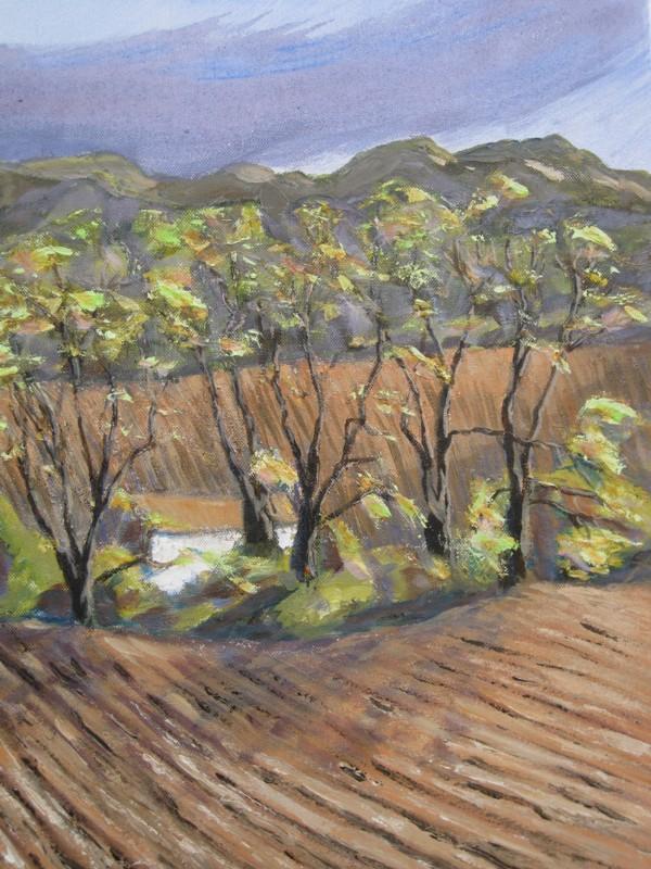 Paysage francais martin clark artist painter tamar for Paysage francais